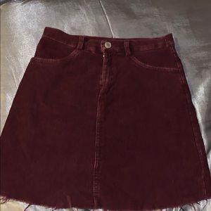 maroon Juliette skirt